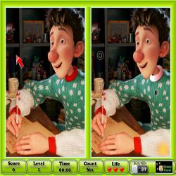 Arthur Christmas Spot the Difference