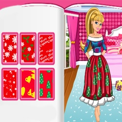 Barbies Christmas Patchwork Dress Dressup who
