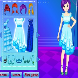 Blue Ball Dress Up