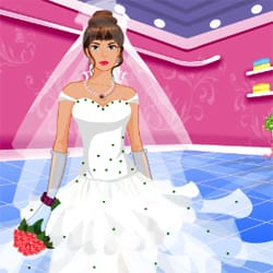 Bride dress up game