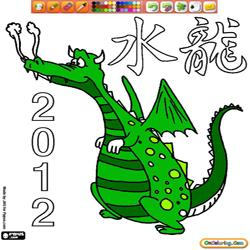 Coloring 2012 Year of the Dragon