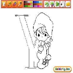 Coloring Babies and Animals Alphabet 1