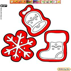 Coloring Christmas Cookies 1