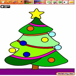 Coloring Christmas trees 2