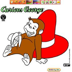 Coloring Curious George 1