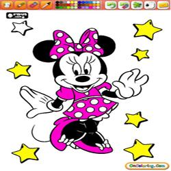 Coloring Minnie Mouse 1
