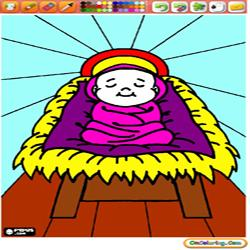 Coloring Nativity scene 2