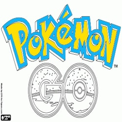 Coloring Pokemon 2 Logo Pokemon Go