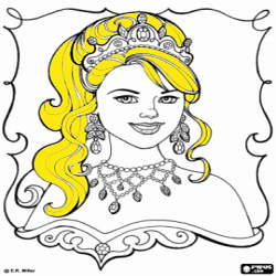 Coloring Princess Leonora 1