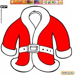 Coloring Santa Claus Clothes 1