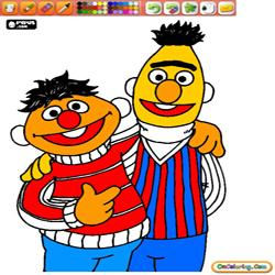 Coloring Sesame Street 1 Bert and Ernie