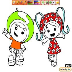 Coloring Team Umizoomi 1