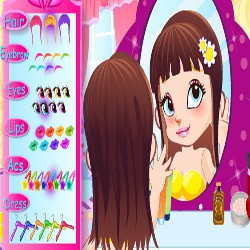 Cute Mirror Girl Make Up