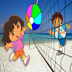 Dora and Diego volleyball