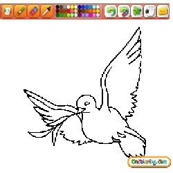 Oncoloring 1 Dove of Peace