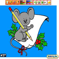 Oncoloring Animals in Christmas 2