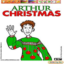 Oncoloring Arthur Christmas 1