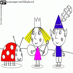 Oncoloring Ben and Holly 1