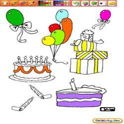 Oncoloring Birthday 2
