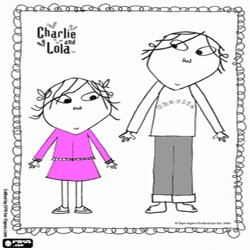 Oncoloring Charlie and Lola 1