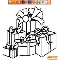 Oncoloring Christmas Gifts 1