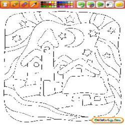 Oncoloring Christmas Landscapes 1