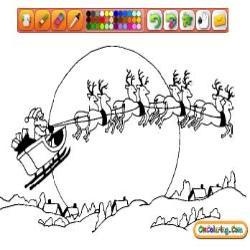 Oncoloring Christmas Sleds 1