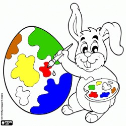 Oncoloring Easter eggs 1