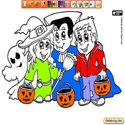 Oncoloring Halloween Party 1