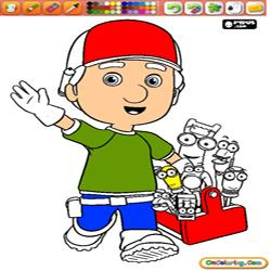 Oncoloring Handy Manny 1