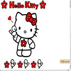 Oncoloring Hello Kitty 1