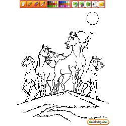Oncoloring Horses 1