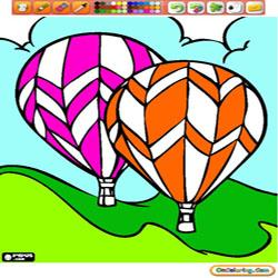 Oncoloring Hot Air Ballons 2