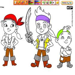 Oncoloring Jake and the Never Land Pirates 1