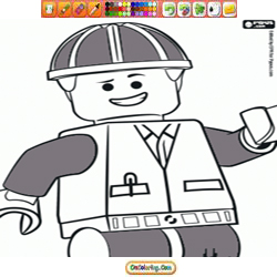Oncoloring Lego 1