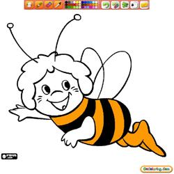 Oncoloring Maya The Bee 1