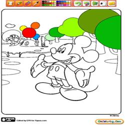 Oncoloring Mickey Mouse Clubhouse 1