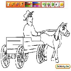 Oncoloring Miscellaneous Vehicles 1 Carriage