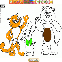 Oncoloring Olympic Mascots 2 Sochi 2014