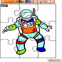 Oncoloring People and Jobs 1 Astronaut