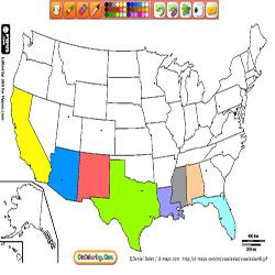 Oncoloring Political maps America countries 1