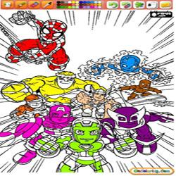Oncoloring Super Hero Squad 1