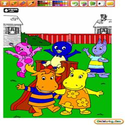 Oncoloring The Backyardigans 1