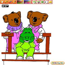 Oncoloring The Koala Brothers 1