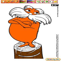 Oncoloring The Lorax 1