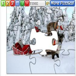Puzzle Christmas Sleds 1