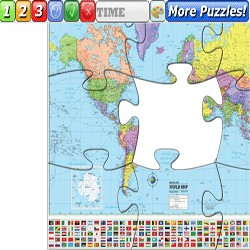 Puzzle world countries map
