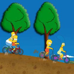 Simpsons bike rally