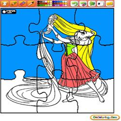 coloring Disney Princess 1 Tangled Rapunzel