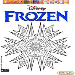 coloring Frozen 1 Logo
